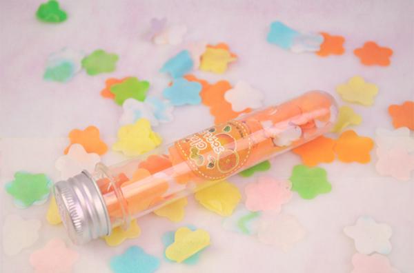 5PCS Free Shipping Xmas Gift Fragrant Soft Foaming Soap Flower Petal Confetti Body Bath Washing(China (Mainland))