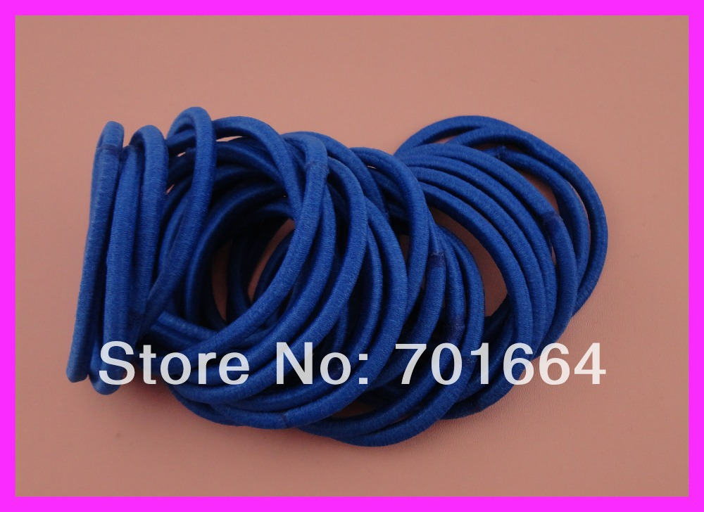 BARGAIN for BULK 4mm sapphire elastic pony tail holders with gluing connection,fushia elastic hair ties(China (Mainland))