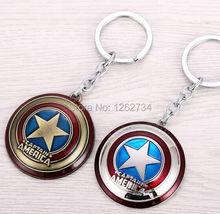 Free Shipping The Avengers New Marvel Super Hero Captain America Shield Action Figure Keychain Keyring Doll(China (Mainland))