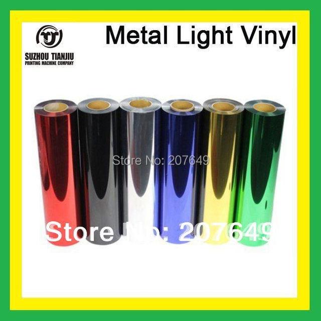 """TJ hight-quality Metal light heat transfer vinyl width is 0.5meter(20"""") one meter hot sales"""