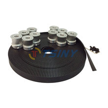 HTD 3M Open Timing Belt Toothed Belt Width 15mm 10 Meters and 10pcs Timing Belt Aluminium Pulleys 25 Teeth Bore 6mm 8mm 12mm