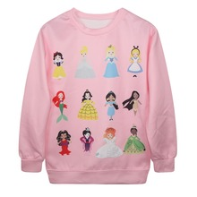 2017 Men 3d Princess Printed Sweatshirt Snow White/Cinderella/Aurora/Ariel Mermaid/Belle Sweatshirts Hoodies - Chinese specialty Goods Store store