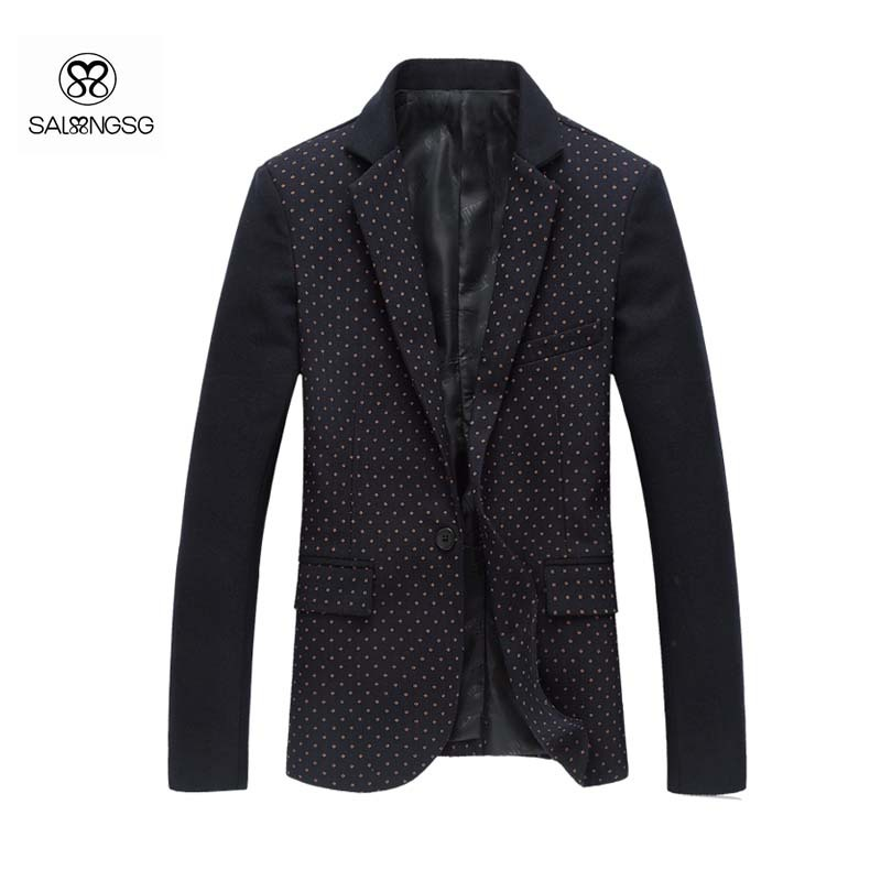 Very Cheap Men Designer Clothes Casual Blazer Men Black Slim
