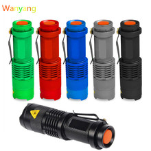 2000 Lumens Flashlight Torch Cree Q5 LED Zoomable 3 Modes Mini Camping Hunting Flash Light Lantern 14500 AA Lamp Hot Sale(China (Mainland))