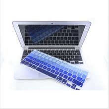 Express Gradual Blue Silicone Laptop keyboard Skin Protector Cover film Guard for Apple Macbook Pro Air Retina 13 15 17