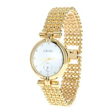 2016 New Arrival Fashion Gold Women's Watch Round Stainless Steel relojes mujer Round Casual Quartz Watches For Women