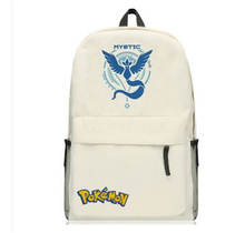 GAME Pokemon GO Pocket Monster Tema Valor Mystic Instinct backpack Canvas Shoulder bag School Bag Travel bag Rucksacks
