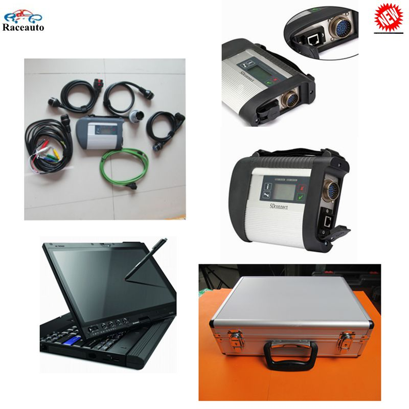 X200t laptop+MB Star C4 SD Connect Compact 4 with wifi connection+HDD Software V2016.07 support Windows 7/xp for mb cars&trucks(China (Mainland))