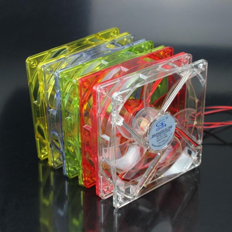 1000PCS/Lot GDT 12025 12V 4P DC Blue Light 120MM 12CM 120MMx120MMx25mm PC Comptuer  LED cooling fan 12v<br><br>Aliexpress