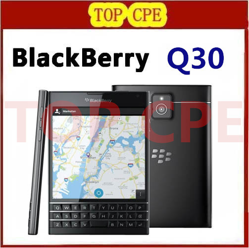Original BlackBerry passport Q30 LTE cell Phone BlackBerry OS 10.3 Quad core 3GB RAM 32GB ROM 13MP Camera DHL EMS free shipping(China (Mainland))