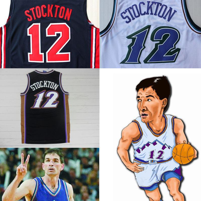 Popular Utah Jazz-Buy Cheap Utah Jazz lots from China Utah Jazz,NBAJERSEYS_REJQRXT723,Free/Drop Shipping Cheap Utah Snow Mountains #12 John Stockton Throwback Jersey China Retro