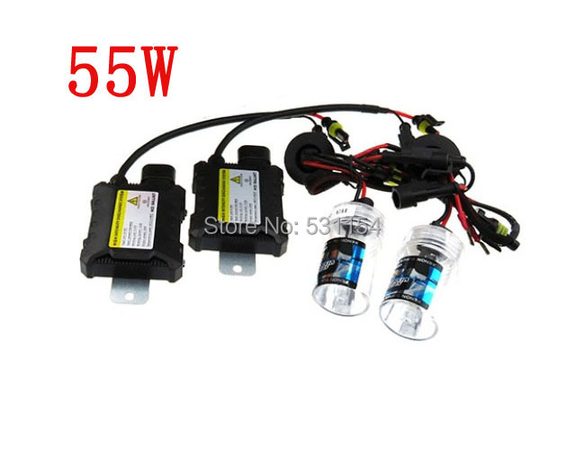 Hid xenon kit 12V 55w ballasts single beam Auto headlight H1 H3 H7 H11 H13 4300k 6000k 8000k,10000k,12000k,15000k,20000k,30000k()