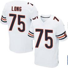 Men's #75 Kyle Long Elite White Football Jersey 100% stitched(China (Mainland))