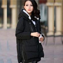 Зимнее пальто для беременных с длинным капюшоном, утепленный пуховик, повседневное пальто для беременных женщин, одежда для беременных, вер...(China)