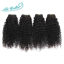 Top Quality Ali Grace Hair Brazilian Curly Virgin Hair Unprocessed Wet and Wavy Virgin Brazilian hair 4 Bundles deal Kinky curly(China (Mainland))