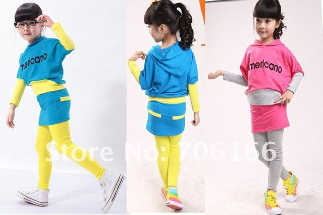 2012 children pantskirt,baby sports sweater,litte girls tracksuit,1set=1coat+1pants,1set sell+china post airl mail FREE SHIPPING