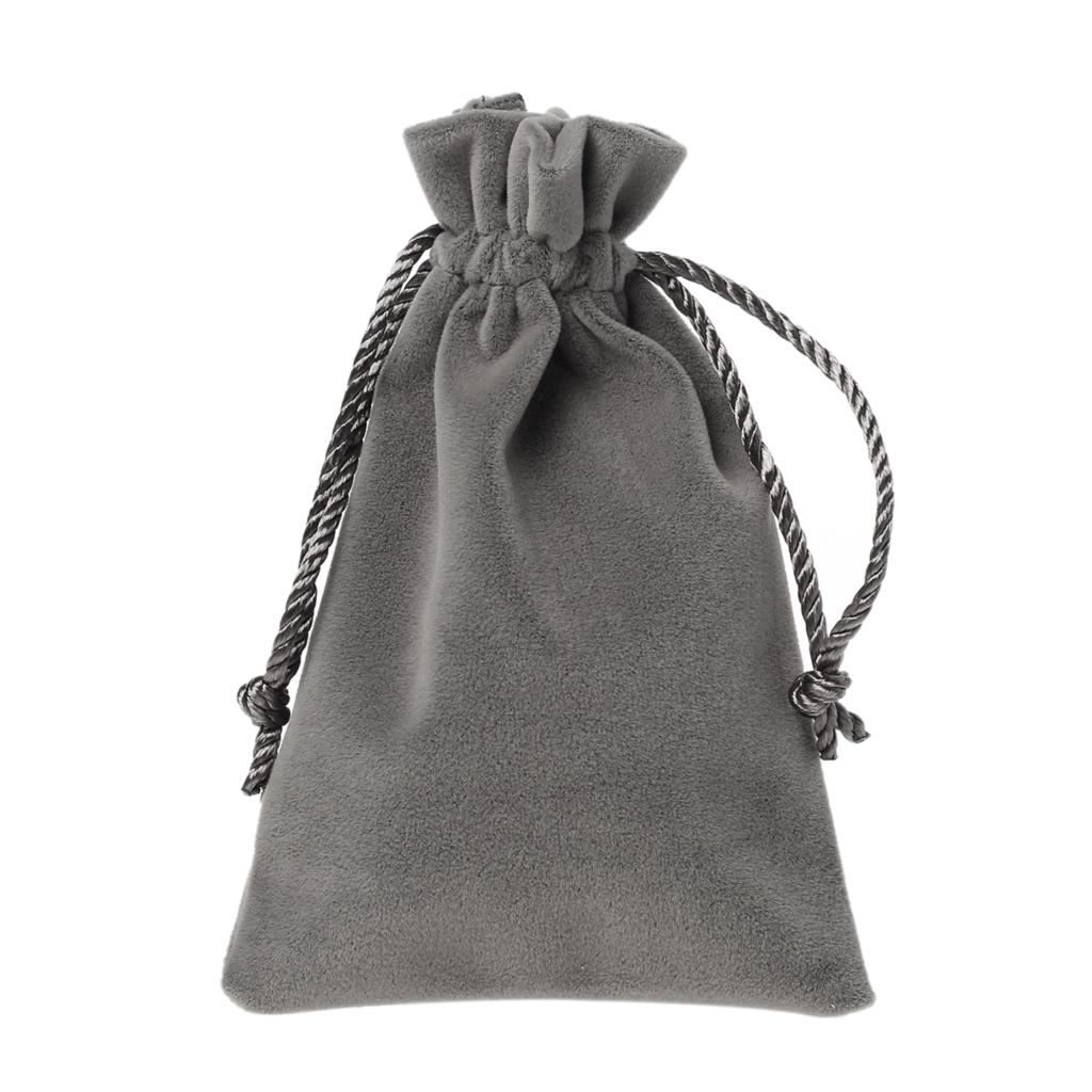 "Velveteen Velvet Pouch Jewelry/Gift Bags Rectangle Taupe 15cm x10cm(5 7/8"" x3 7/8""),2 PCs 2015 new(China (Mainland))"