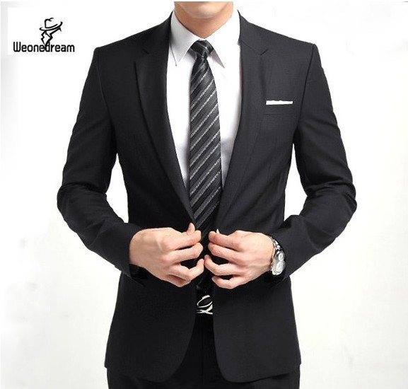 2015 New Arrival Fashion Brand Men Slim Fit Suits Man Business Formal Suit with Pants Tuxedo Bridegroom Wedding Suits for Men(China (Mainland))