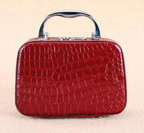 [Top Quailty]2015 New Arrival Red Professional Bland makeup bag cosmetic cases Fashion transparent cosmetic cases(China (Mainland))