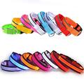 Fashion Nylon LED dog collar Striped 7 colors choose Sizes S XL to Dog collars Free