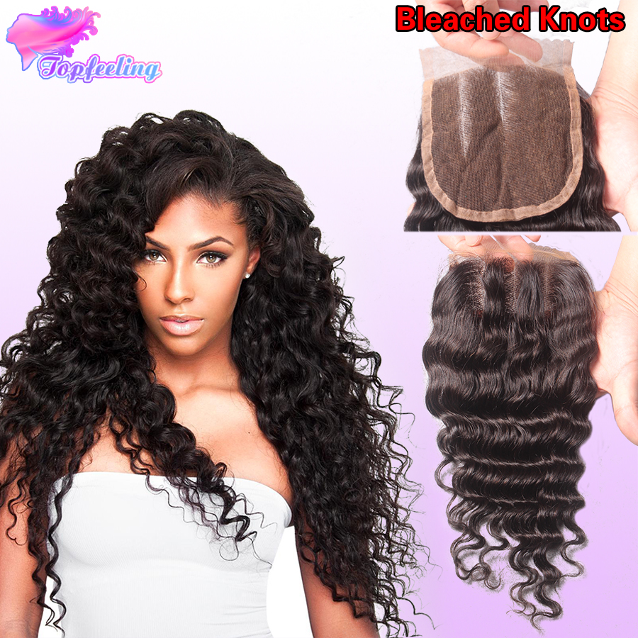 Brazilian Deep Curly Closure 3.5x4 Virgin Human Hair Lace Closure Free Middle 3 Part Lace Closures Bleached Knots With Baby Hair<br><br>Aliexpress