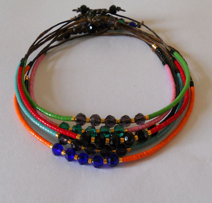 Fashion cute orange/red/green/black beads adjustable bracelet women/girl summer beach party jewelry - Merphon Jewelry store