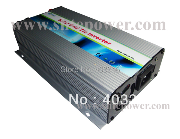 300W Grid Tie Power Inverter,DC 22V-60V(24V 36V 48V) AC 110V 120V 220V 230V 240V,Solar inverter
