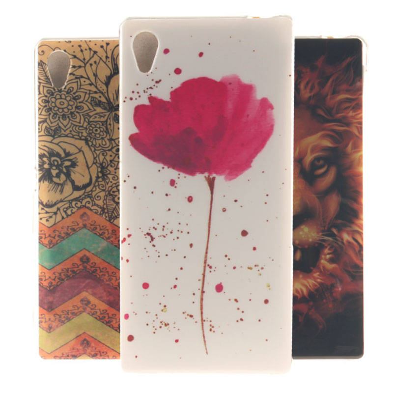 Glossy IMD Print Soft TPU Back Phone Case Cover Sony Xperia M4 Aqua E2303 E2333 E2353 Protective Bags&Cases - Fashion 3C Digital discount chain store