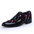 black white color mens party shoes graffiti model drawing pattern man oxfords shoes big size 45