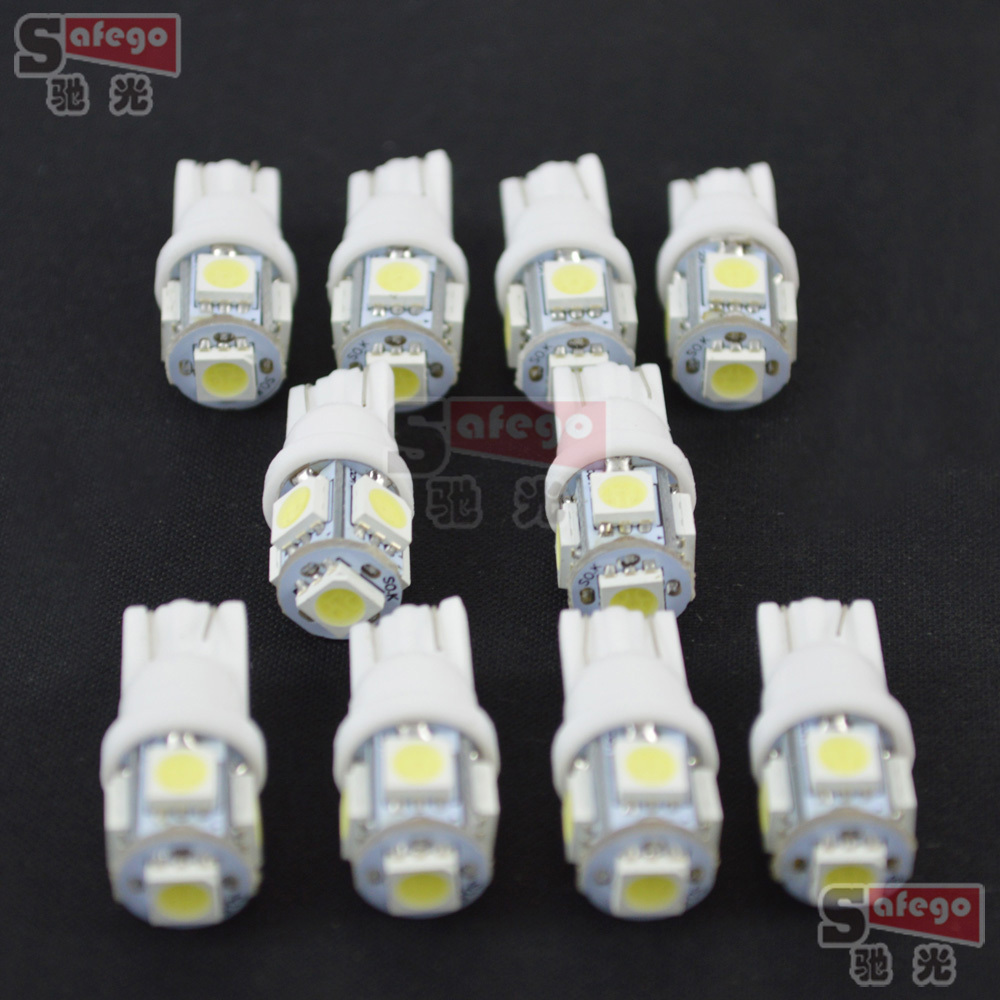 20pcs T10 5050 5SMD LED t10 194 168 W5W Car Side Wedge Tail Light Lamp Bulb