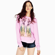 Casual cartoon print sweatshirt hoodie loose pink pullovers jumper 2017 spring sweatshirt women harajuku plus size svitshot sale(China (Mainland))
