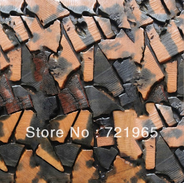 Natural wood mosaic tile rustic wood wall tiles NWMT013 kitchen backsplash wood panel 3D wood pattern tiles mosaics<br><br>Aliexpress