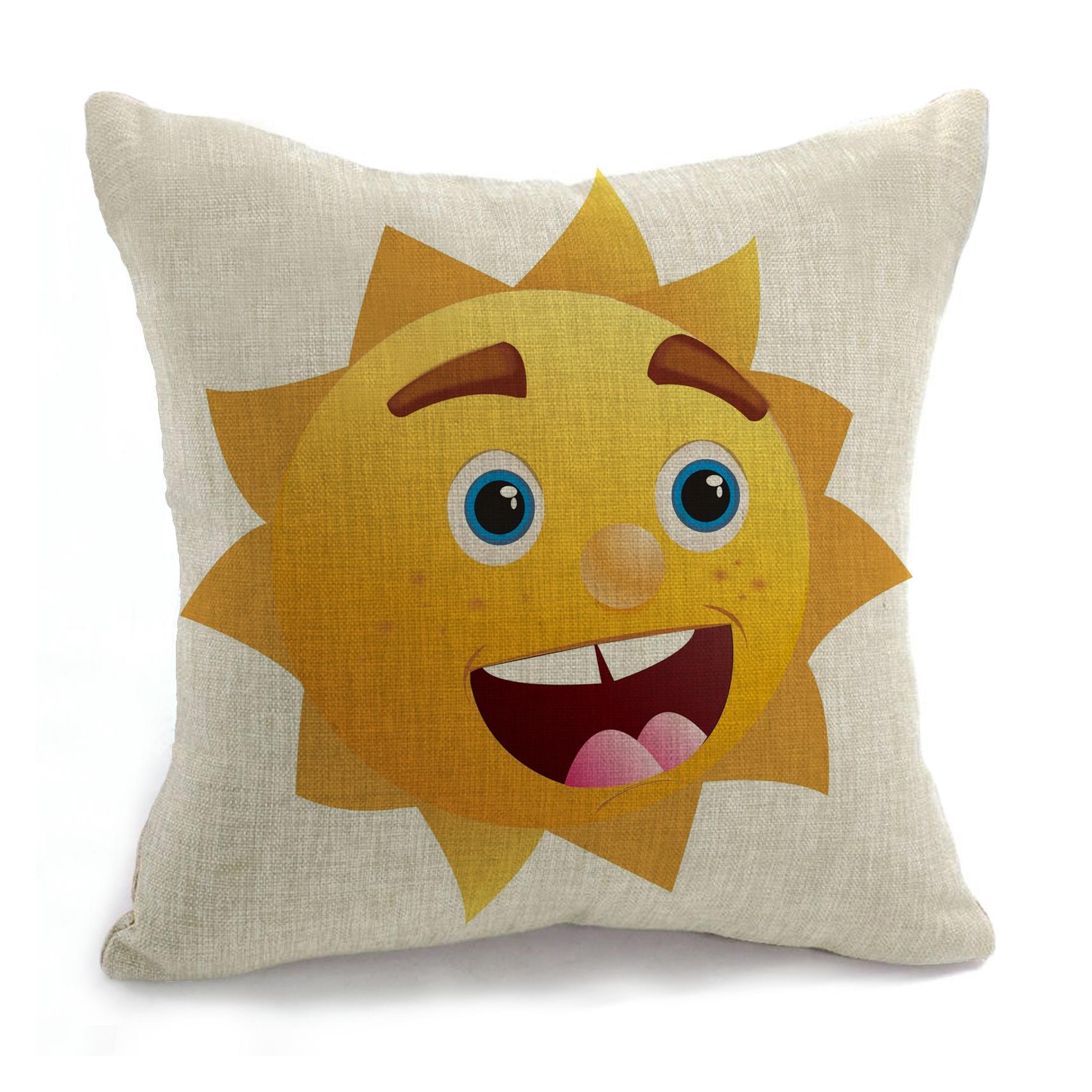 Scandinavian Pouf Decorativos Cojines 18 Inches Smile Decorative Throw Pillow Emoji Kussens Home Decor Cushion Coussin Almofada