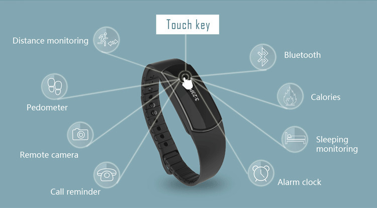 SH07 Bluetooth Smart Wristband Sports Waterproof Smartwatch Sport Bracelet Wristband for IOS Android iPhone Samsung Smart Watch