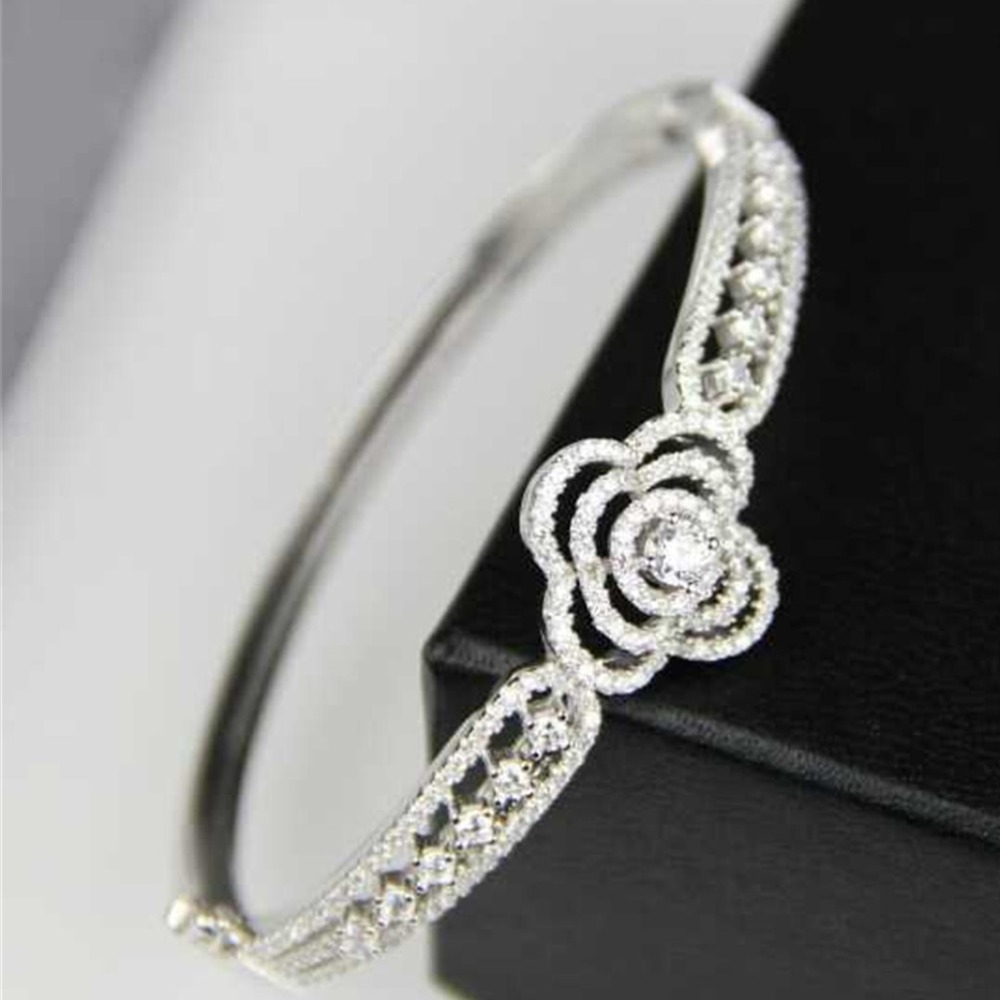 XD163 nail shape  Luxury AAA cubic zirconia micro pave setting palm bracelet bangle cuff novel bling bling sparkling<br><br>Aliexpress