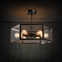 American vintage lamps iron  modern  chandeliers industrial lighting meerosee(China (Mainland))