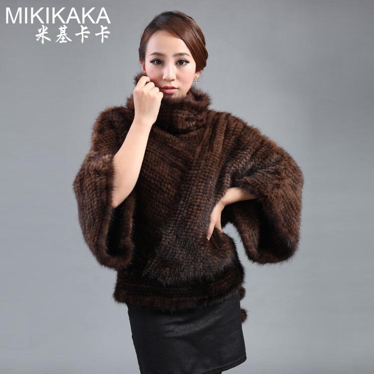 Knitted Mink Fur Coat - Coat Nj