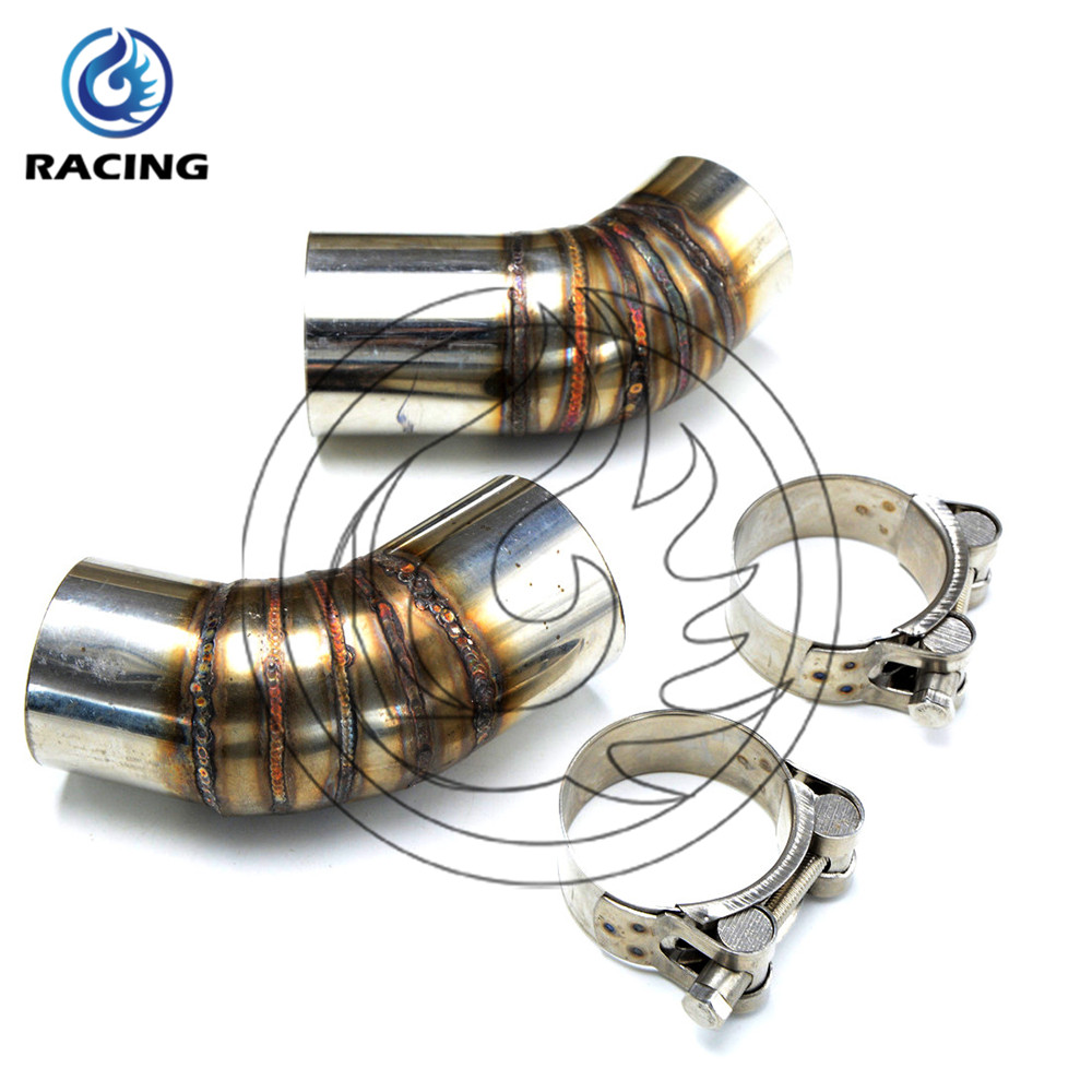 motorcycle the middle of exhaust pipe stainless steel motorbike mid pipe For ducati monster 796 2013<br><br>Aliexpress