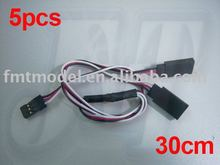 Buy F00854-5 300MM 30CM Servo Y Extension Wire Cable Futaba Receiver,RC Car, Plane Heli + FS for $2.43 in AliExpress store