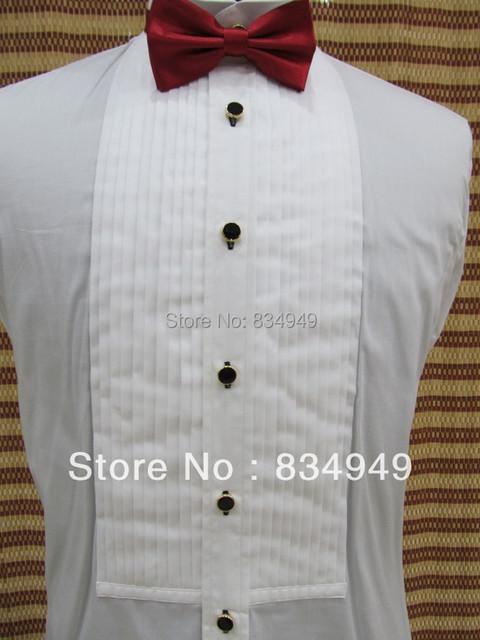 На заказ 100% хлопок белый смокинг рубашки, С учетом рубашки, На заказ белый женихов ...