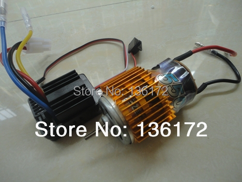 1/10 rc car 550 Brush motor +hobbywing 320A 40amp Brush ESC waterproof WP-1040 2pcs/set free shipping(China (Mainland))