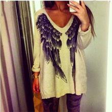 Nuevo 2014 caliente de la rebeca alas de la personalidad suéter Hi-Q vestido ocasional característica mujeres suéter suéteres moda vestido de invierno para las mujeres(China (Mainland))