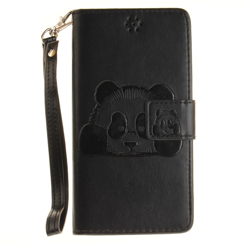 Luxury 3D Panda Case sFor Samsung Galaxy A3 2016 A310 Cover For Samsung A310F A3 2016 Flip Stand Leather Wallet Case Card Holder