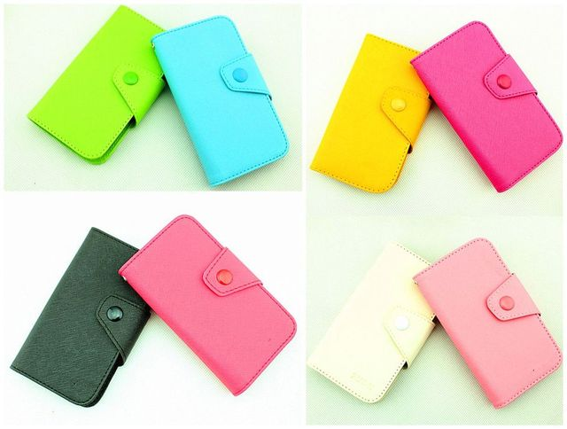 Fancy PU Leather Wallet Case Cover With Magnetic flap closure Diary for Samsung Galaxy Pocket S5300 Smart Mobile Phones