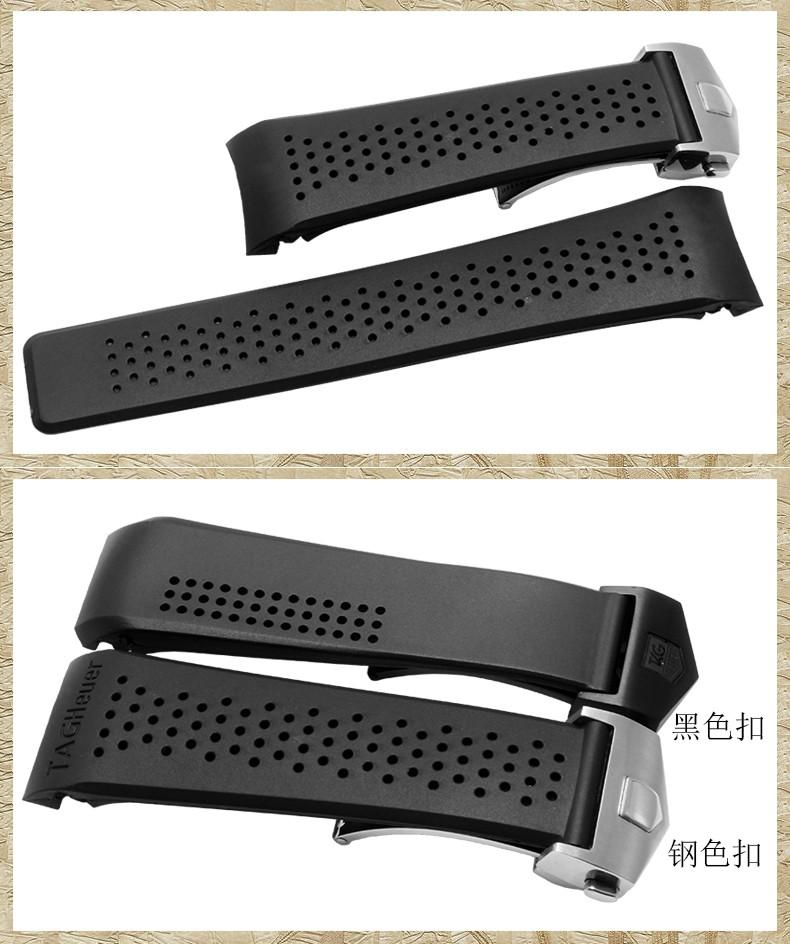 22 мм 24 мм высокое качество из нержавеющей стали серебро черные развертывания дайвинг силиконовой резины ремешок