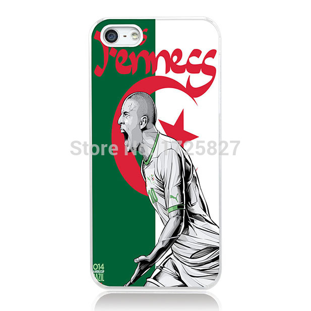 Algeria Soccer Star Case for iphone 6S Plus for LG G2 G3 G4 for Sony Xperia Z2 Z3 Z4 for HTC One M7 M8 Mini M9(China (Mainland))