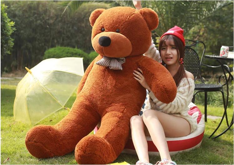 Free shipping lovely giant teddy bears stuffed animal /big bear plush toy/large teddy bear/huge teddy bear 100cm(China (Mainland))