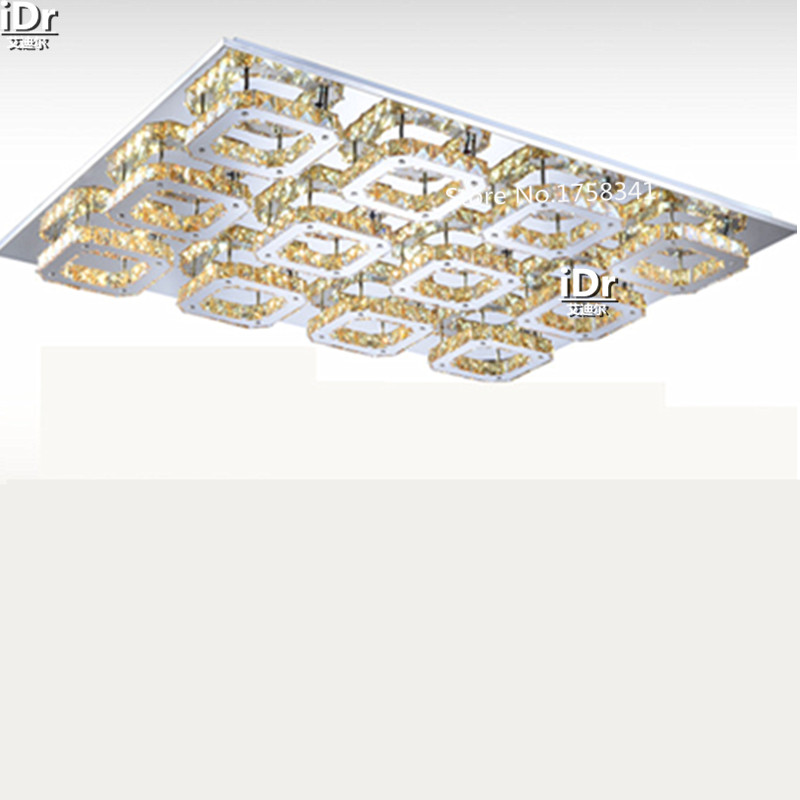 New 12 head Hot sale Diamond LED ceiling light modern bedroom crystal ceiling lamps Hotel Lighting L900xW680xH80MM(China (Mainland))