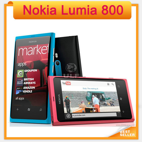Nokia Lumia 800 Mobile Windows OS 16GB ROM 8MP 3G Wi-Fi GPS Bluetooth Cell Phone in Stock!!(China (Mainland))