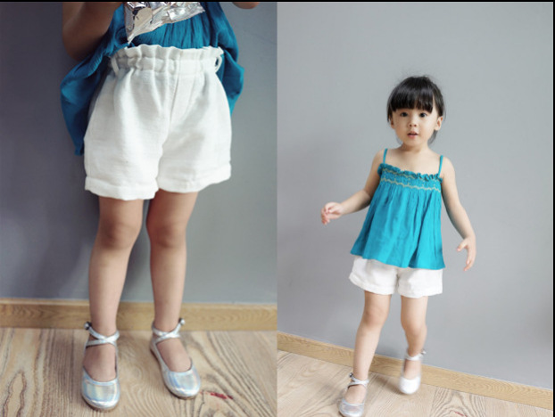 Summer casual shorts baby girls short trousers kids white linen shorts pants comfortable fashion children's clothing(China (Mainland))